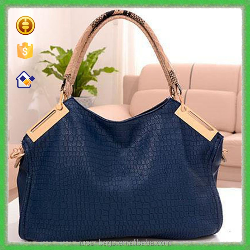 YTF-P-STB027 One Piece Support New Products 216 Navy Leather Handbag For Women