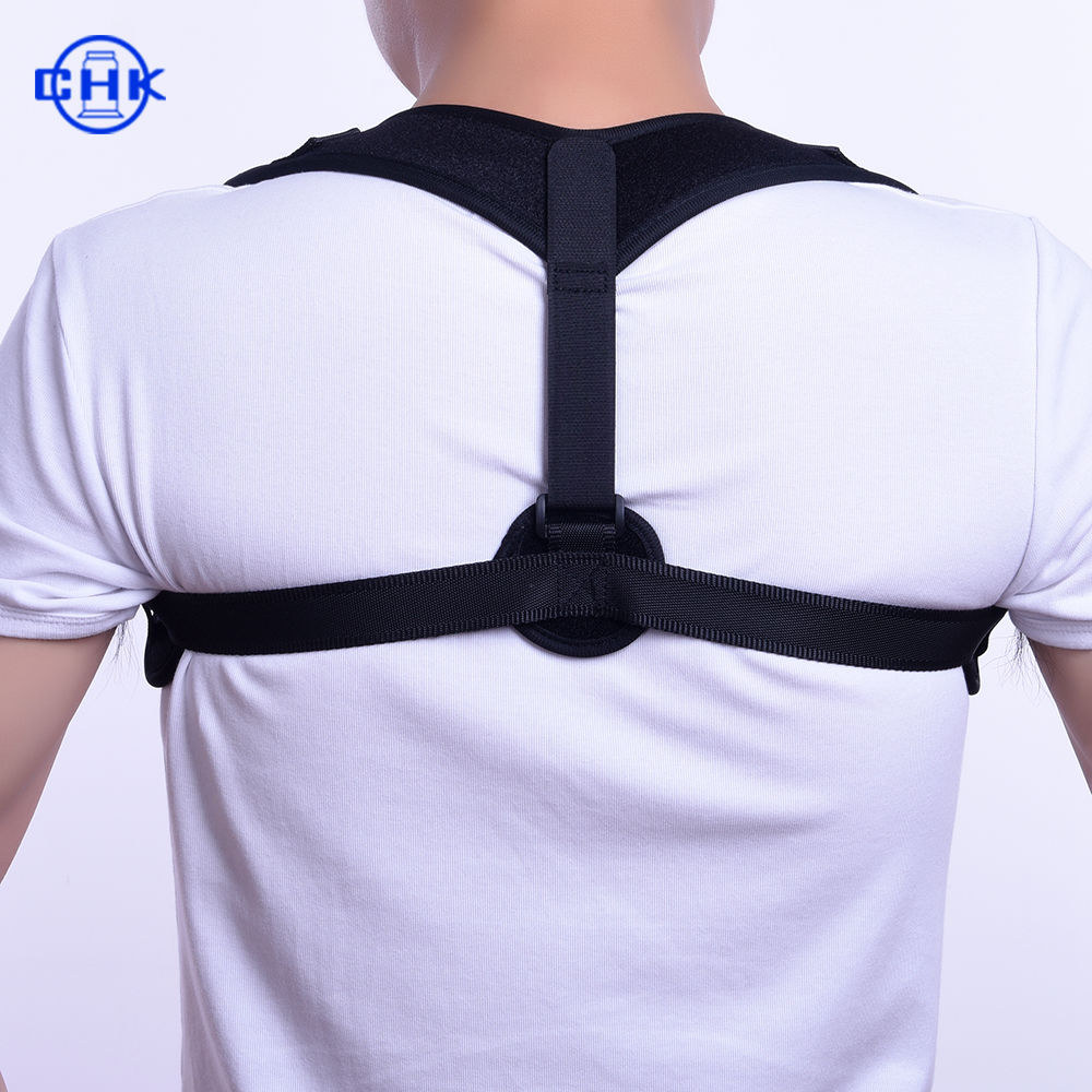 Front Adjustable Back Brace Posture Corrector Clavicle Shoulder Straps, Customized color