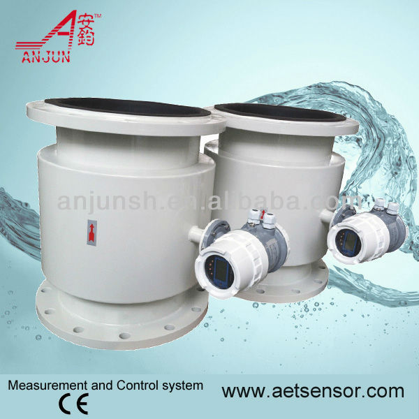 Anjun AMF sewer pipe Electromagnetic Flowmeter with GRPS