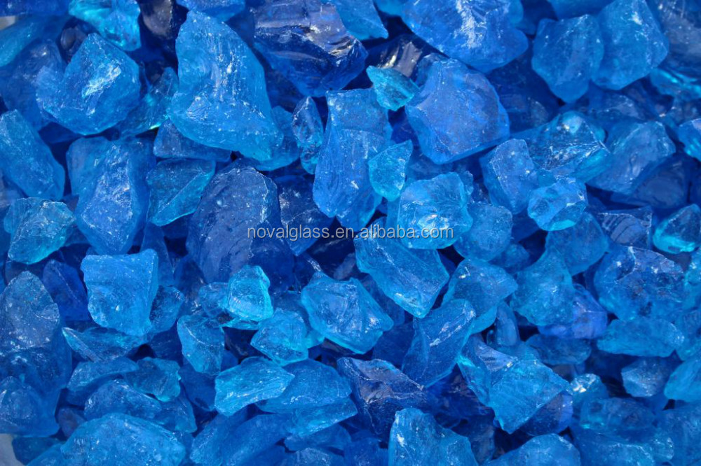 Clear and colored Tempered Crushed Glass,Firepit Glass