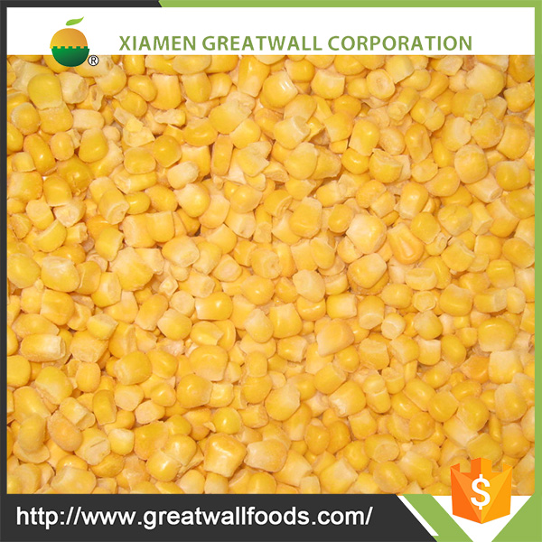 High Quality IQF whole kernel sweet corn