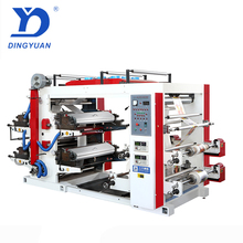Heeft video china top verkoper sanyuan <span class=keywords><strong>merk</strong></span> 4 colours automatische flexografic <span class=keywords><strong>drukmachine</strong></span>