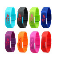 Best promotion gifts silicone wrist watches men women Led Watches
