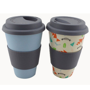 Wholesale Free Sample Tea Cup Custom Print Biodegradable Bamboo Coffee Travel Mug With Logo