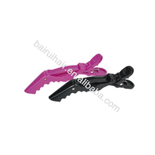 Factory price high quality plastic alligator hair clips crocodile hair clips for salon use