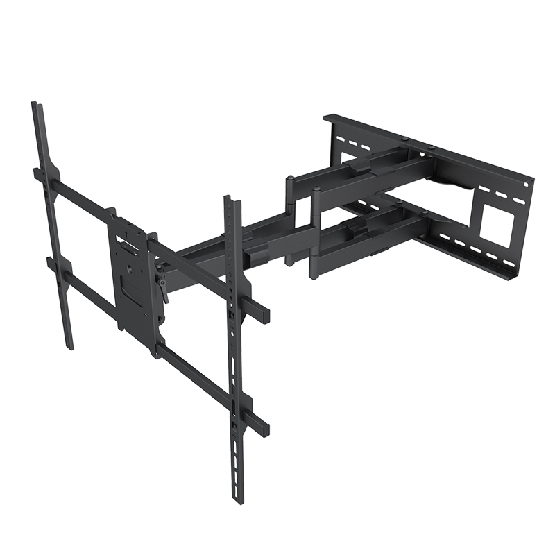 Home Furniture Telescoping 180 Degrees Swing TV Mount Bracket With Dual Arms