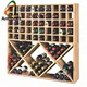 Wholesale Custom Wooden Bin Grid 100 Bottle Wine Rack
