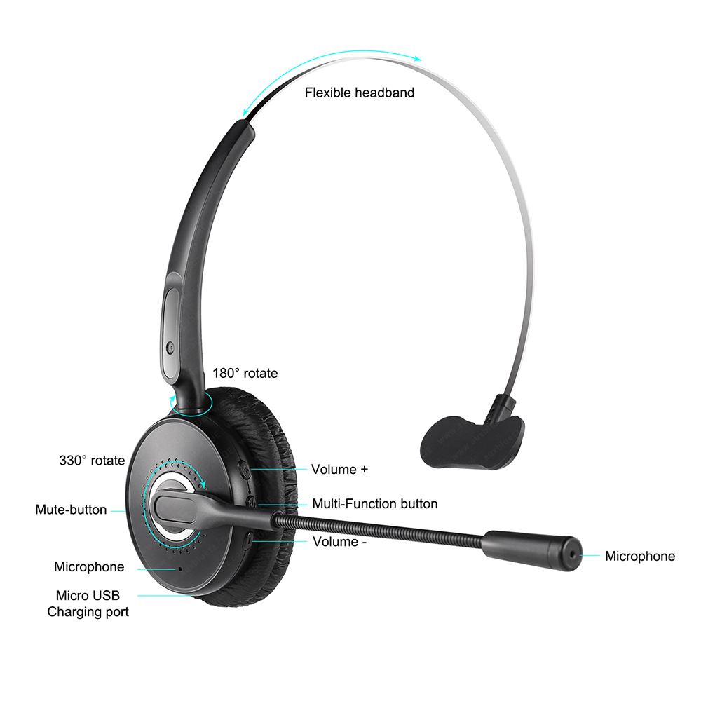 Noise Cancelling Double Microphone For Cell Phone Single Ear Bluetooth Headset Wireless Earphone For Phone Truck Driver Buy Noise Cancelling Double Microphone For Cell Phone Single Ear Bluetooth Headset Wireless Earphone For Phone