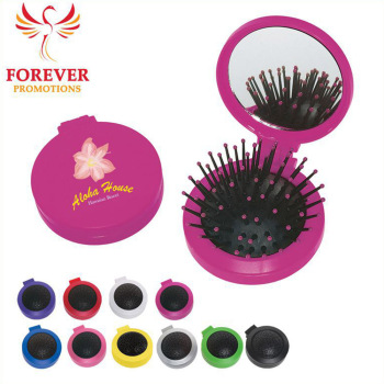 Hot Selling Wholesale Promos Custom Logo Mirror And Hair Brush Hotel Travel Kit