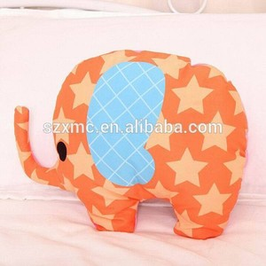 Factory Wholesale Big Soft Animal Elephant Shaped Baby Toy Pillow