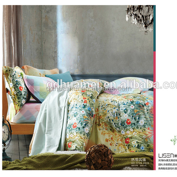 Fashion Flower Fabric Painting Top Quality Oem 100 Cotton Bed Sheets