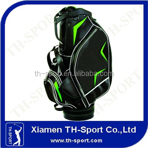 black pu leather 9.5inches custom embroidered golf bags