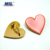 Safety heart shape metal pin badge buttons pins