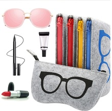 2018 Colorful Felt Sunglasses Case For Women Men Eyewear Accessories from China Factory Directly