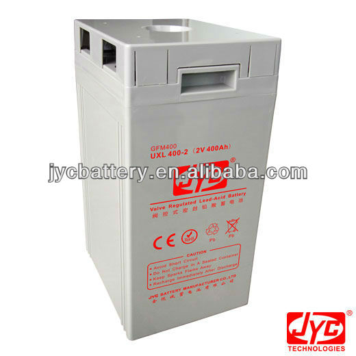 High quality sealed lead acid battery 2V 400Ah for UPS,EPS,wind power and solar system price promotion