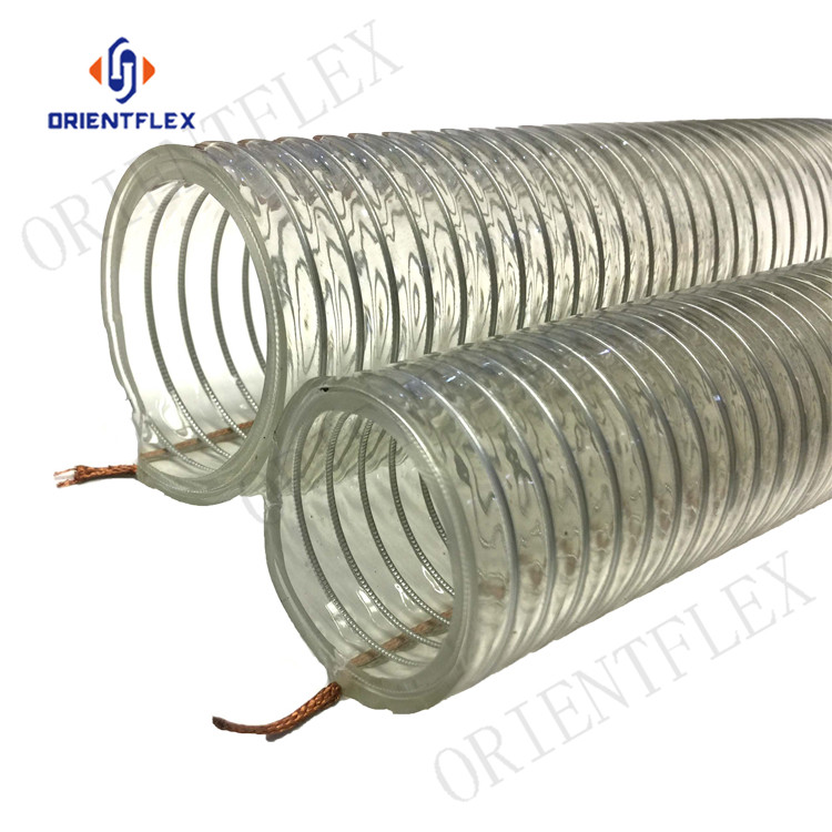 Wholesale wire reinforced pvc flexible steel wire hose