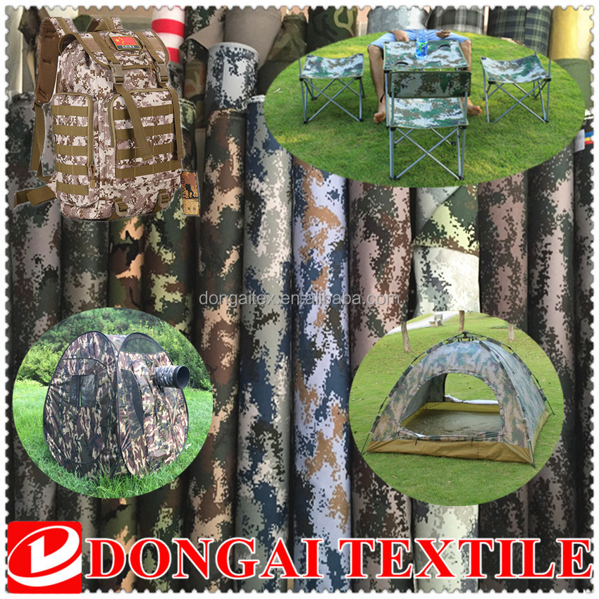 camouflage printed fabric waterproof camouflage military tent fabric