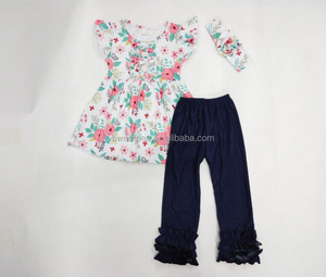 Wholesale Newest Spring Summer Children Costumes Clothes Baby Girl Clothing Sets Kids Boutique Outfits