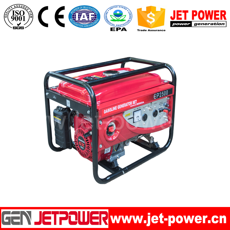 portable gasoline generator 2.8kw Honda recoil start max power 3kw generator