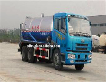 Sewer Septic Tanks 10Tons Vacuum Pump Sewage suction Truck