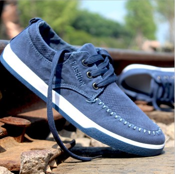 Zm21706a 2016 New Style Men Jeans Canvas Casual Shoes Fashion Men