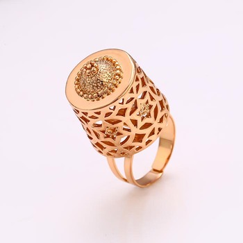 12400 High quality graceful women jewelry special design 18k gold color copper alloy finger ring