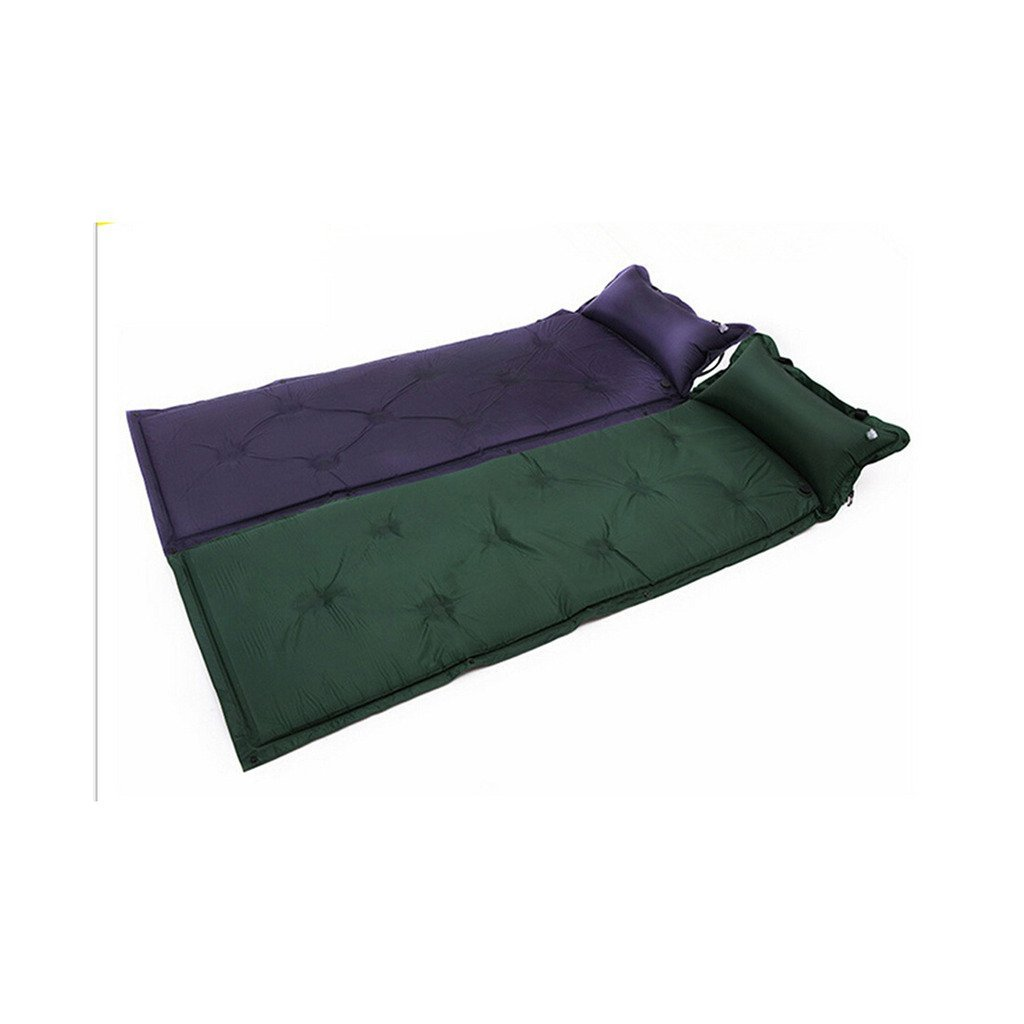 Inflatable Cushion Tent Automatic Inflatable Cushion Queen Afternoon Nap Moistureproof Cushion Camping Inflatable Bed army green