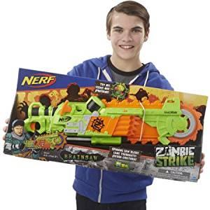 Nerf Zombie Strike Fires 1 Dart Brainsaw Blaster 8 Zombie Strike Darts 8 Years And Up