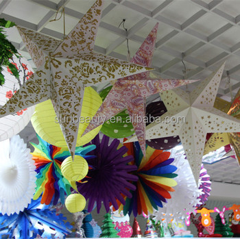 Handmade Paper Crafts For Party And Festival Hanging Decorations