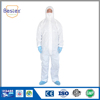 White Standard Style SMS Fabric Disposable Working Coveralls