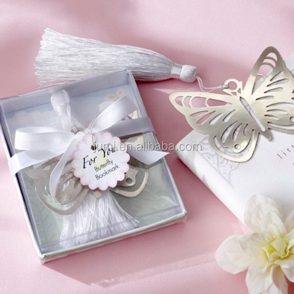 Beautiful cheap butterfly mental bookmark graduation favors gift ideas