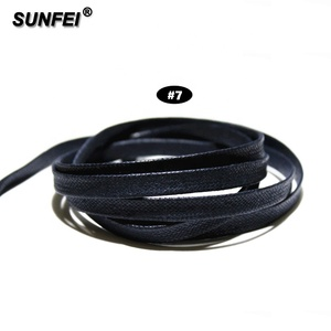 SunFei Casual Waxed Flat Navy Cotton Shoelaces for Half Boot in Any Sport Fitness Field - Frye Boot Laces - Accept Custom