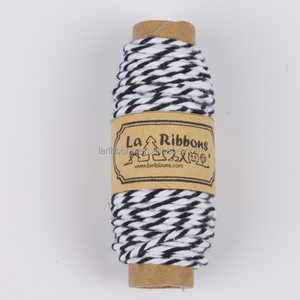 Wholesale black and white cotton waxed hemp cooking twine bakers twine