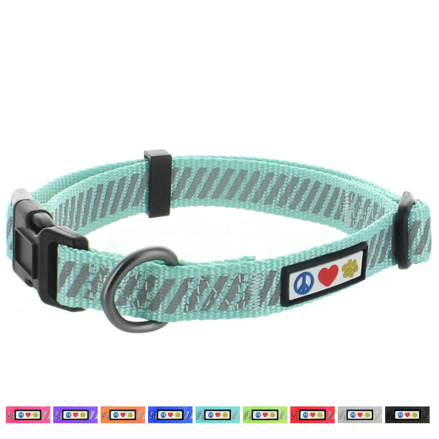 Pawtitas Pet Soft Adjustable Traffic Collection Reflective Dog Collar