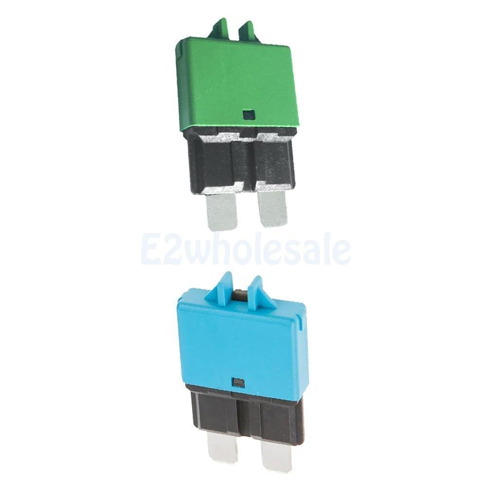 2pcs Automatic Resettable Fuse Auto Marine Circuit Breaker Blade 30A 15A 12V