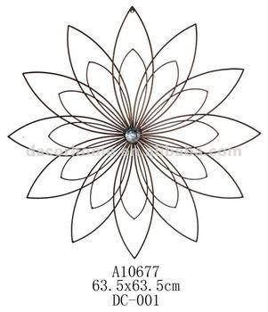 Metal Wire Flower Decorative Wall Decor