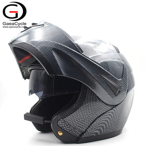 Hot Sale Full Face Flip Up Motorcycle Bluetooth Headset Helmet Carbon Fiber helmet Dot Approved