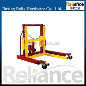 1 Ton Capacity Heavy Duty Hydraulic Dual Wheel Dolly For Drum Transporter