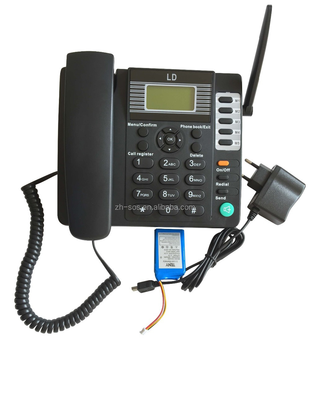 Call id function wireless GSM phone.