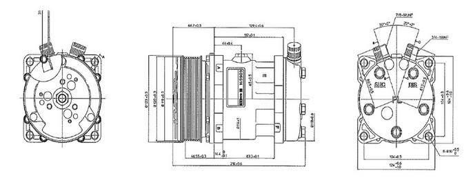 actecmax ac compressor 5h14 ac compressor with r134a for universal 12 volt air compressor
