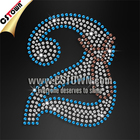 Iron on transfer numbers sequin bling custom motif for kids