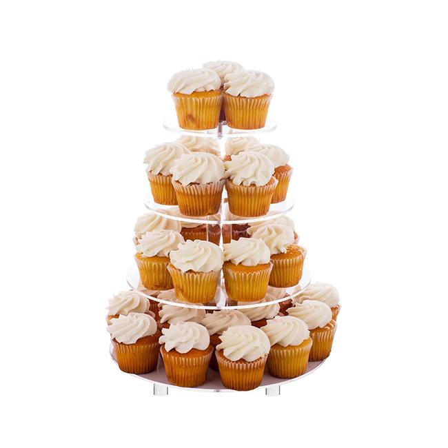 Özelleştirilmiş 4 5 6 7 Tier Crystal Clear Akrilik Yuvarlak düğün kek Standı kek standı akrilik 4 tier yuvarlak düğün pastası standı