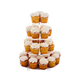 customized 4 5 6 7 Tier Crystal Clear Acrylic Round wedding Cupcake Stand cake stand acrylic 4 tier round wedding cake stand
