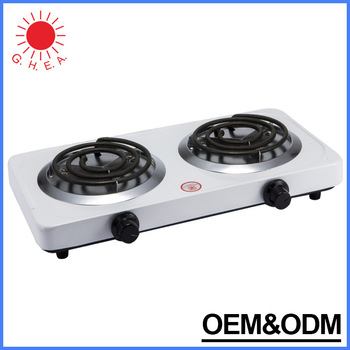 Portable Electric Hot Plate Mini Travel 2 Burners Stove Cooking