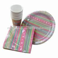 custom printed disposable paper fancy table setting for Christmas