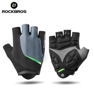ROCKBROS Cycling Gloves Half Finger Gel Bicycle Gloves MTB Motorcycle Anti-Shock Breathable Elastic Men Sports Clothings Gloves
