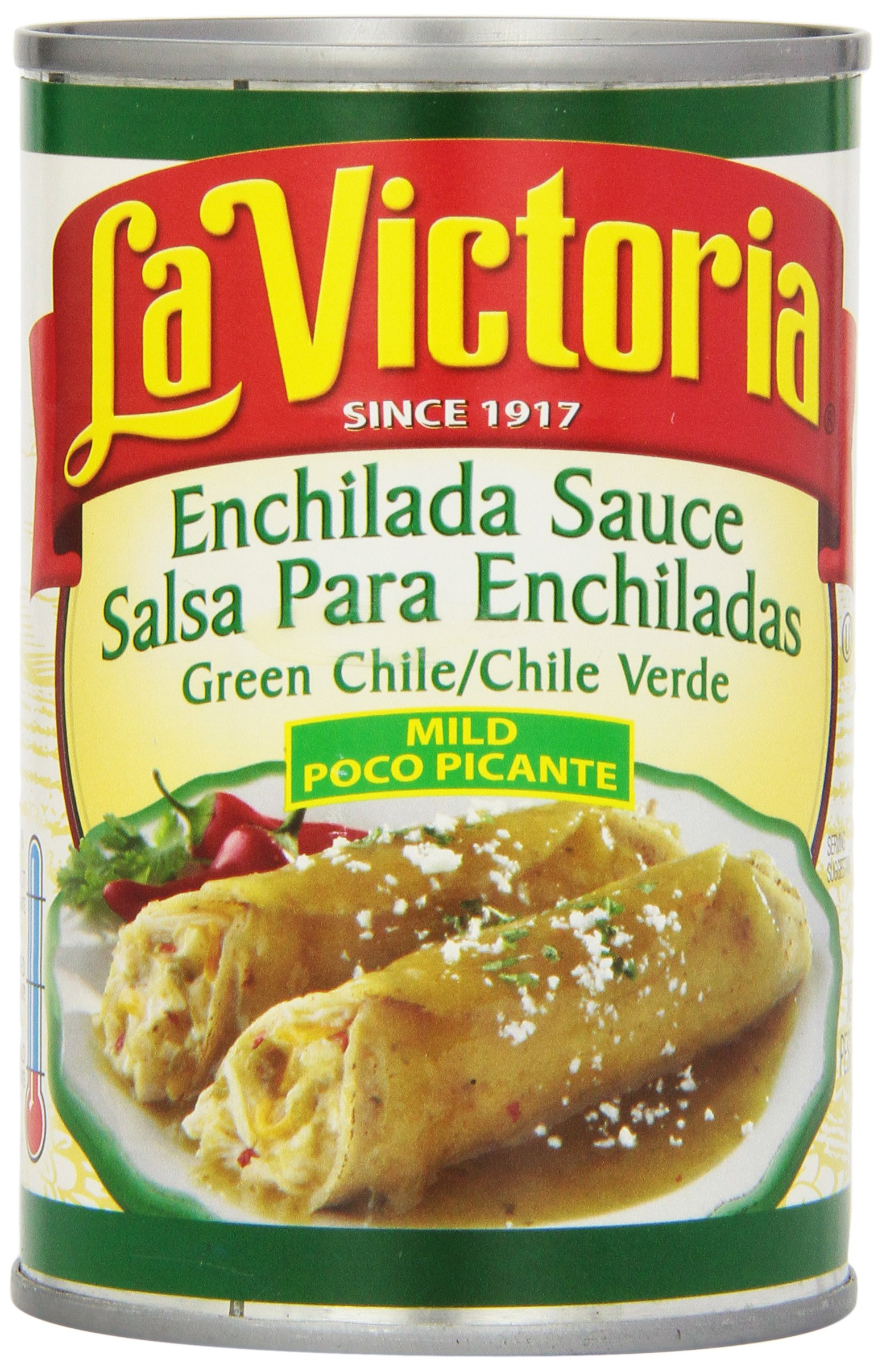 La Victoria Green Enchilada Sauce, Mild, 10-Ounce Cans (Pack of 12)