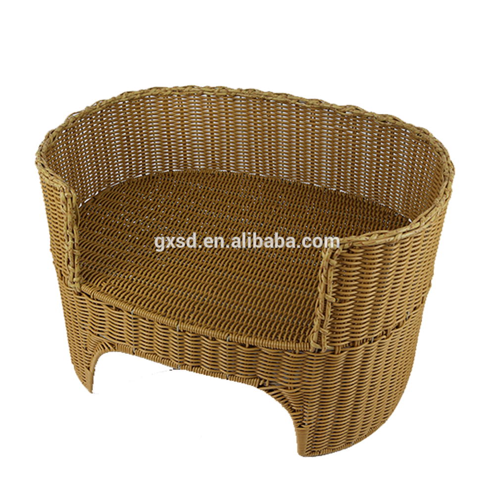 Wholesale high quality and convenience PE rattan cat bed cheap pet bed for small animal sleeping