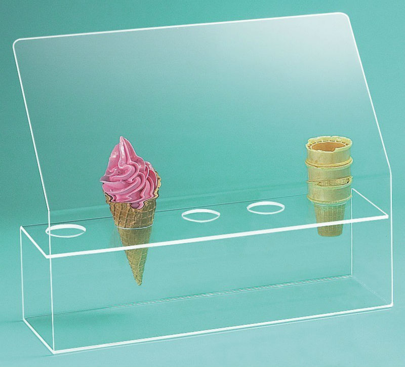 Ice Cream Cone Holder with Sneeze Guard