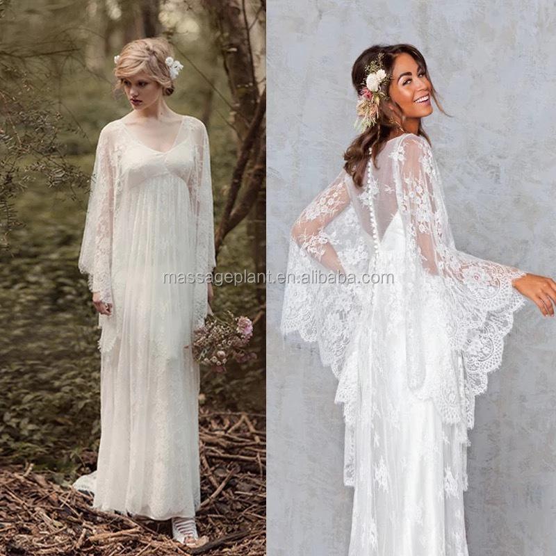 Melany Langarm Kleid Einzigartige Hochzeit Spitze Brautkleid Vintage